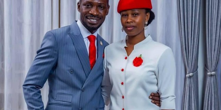 Robert Kyagulanyi and Barbie Itungo