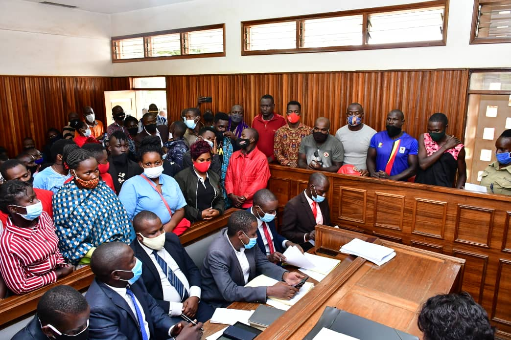 NUP supporters arrested in Kalangala appear in a Masaka court on Monday 4th January 2021