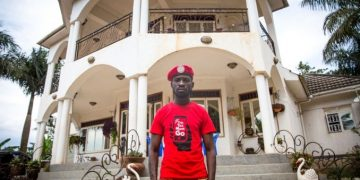 Bobi-Wine-infront-of-his-house